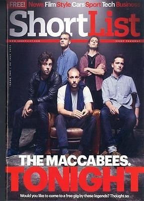THE MACCABEES PHOTO COVER INTERVIEW SHORTLIST MAGAZINE 2015 ROBERT PATTINSON