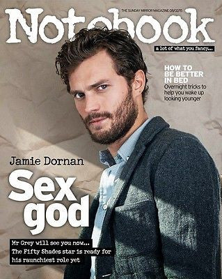 50 Shades of Grey JAMIE DORNAN Photo Cover interview NOTEBOOK MAGAZINE FEB 2015