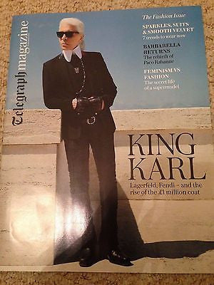 KARL LAGERFELD PHOTO COVER INTERVIEW UK TELEGRAPH MAGAZINE SEPT 2016 THE BEATLES