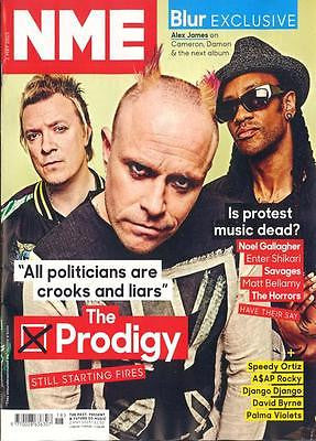 NME Magazine 2 May 2015 THE PRODIGY DAVID BYRNE NOEL GALLAGHER MATT BELLAMY MUSE