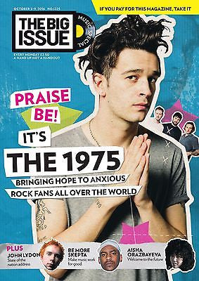 MATT HEALY - THE 1975 UK PHOTO COVER BIG ISSUE MAGAZINE - SEPTEMBER 2016