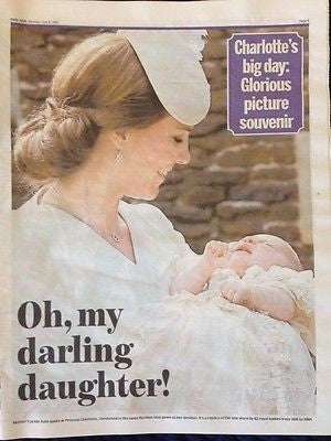 (UK) DAILY MAIL 7/6/15 ROYAL BABY PRINCESS CHARLOTTE PHOTO SOUVENIR SUPPLEMENT