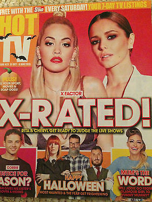 HOT TV MAGAZINE OCT 2015 CHERYL COLE FERNANDEZ VERSINI RITA ORA YVETTTE FIELDING