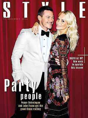 Luke Evans - Poppy Delevingne Photo Cover UK STYLE MAGAZINE December 2016
