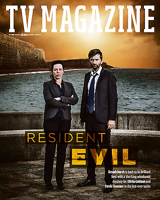 UK Sun TV Magazine February 2017 David Tennant Broadchurch