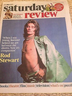 (UK) TIMES REVIEW OCTOBER 2015 ROD STEWART PHOTO INTERVIEW ELVIS COSTELLO