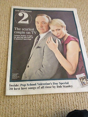 Times 2 Supplement February 2014 - Kevin Spacey & Robin Wright Joaquin Phoenix