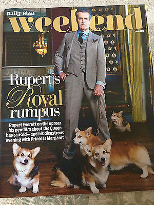 UK WEEKEND MAGAZINE 2015 - RUPERT EVERETT ELAINE PAIGE FERN BRITTON MATT LEBLANC