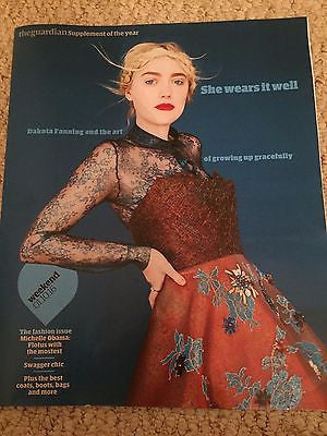 DAKOTA FANNING Photo Cover Interview UK Guardian Weekend Magazine October 2016