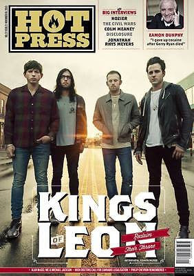 KINGS OF LEON - JONATHAN RHYS MEYERS HOZIER Photo Cover HOT PRESS MAGAZINE 2013