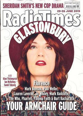 UK RADIO TIMES MAGAZINE - FLORENCE WELCH + THE MACHINE - THE WHO - JUNE 2015