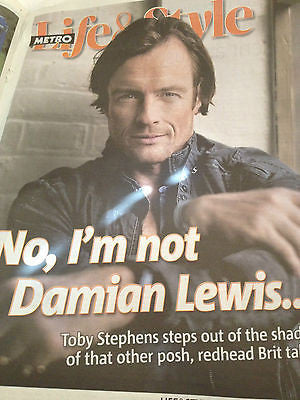 TOBY STEPHENS interview MAGGIE SMITH UK 1 DAY METRO ISSUE 2014 NEW