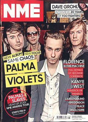 NME MAGAZINE 2015 PALMA VIOLETS DAVE GROHL FLORENCE + THE MACHINE LAURA MARLING