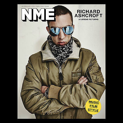 The Verve RICHARD ASHCROFT Photo Cover interview UK NME MAGAZINE FEBRUARY 2016