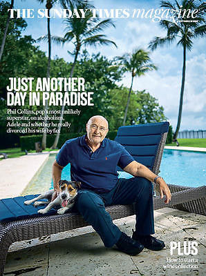 Genesis PHIL COLLINS - PHOTO COVER Sunday Times UK magazine October 2016