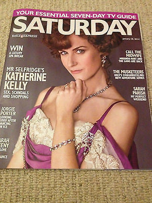 Saturday Magazine Jan 2014 - Katherine Kelly Luke Pasqualino Robin Ellis Poldark