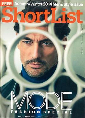 DAVID GANDY PHOTO UK COVER INTERVIEW SHORTLIST MODE MAGAZINE SEPT 2014