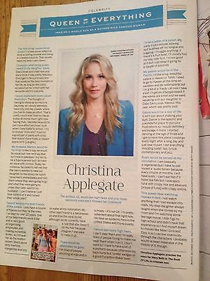 AMY POEHLER interview CHRISTINA APPLEGATE UK 1 DAY ISSUE 2014 LINDA EVANGELISTA