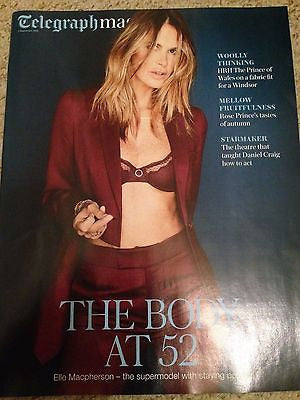 Elle Macpherson Photo Cover Interview Telegraph Magazine Sept 2016 Daniel Craig
