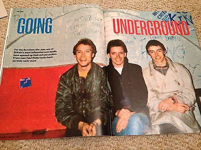 SUNDAY TIMES MAGAZINE JUNE 2015 PAUL WELLER THE JAM BRUCE FOXTON RICKI HALL