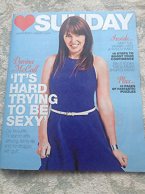 SUNDAY Magazine Davina McCall cover - 3 August 2014