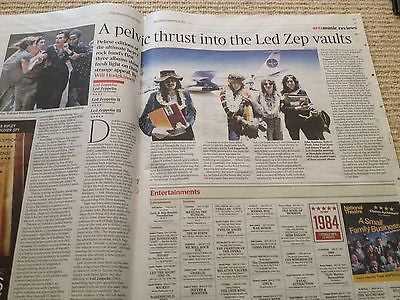 Monty Python TERRY GILLIAM Photo Cover interview 2014 LED ZEPPELIN JIMMY PAGE