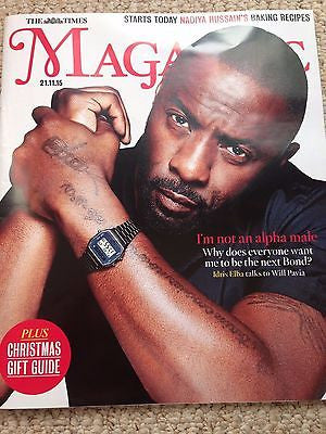 Luther IDRIS ELBA PHOTO COVER INTERVIEW UK TIMES MAGAZINE November 2015 NEW