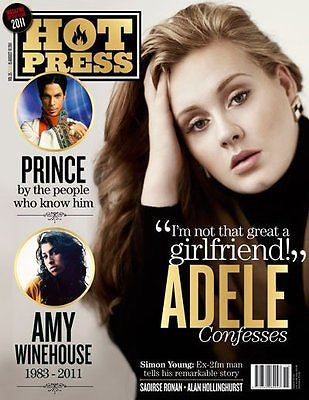 ADELE - Photo Cover Interview HOT PRESS MAGAZINE 2011 - AMY WINEHOUSE PRINCE