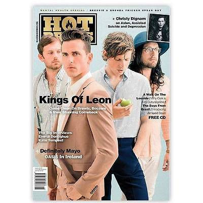 KINGS OF LEON PHOTO interview HOT PRESS MAGAZINE OCT 2016 & Free Armored Dawn CD