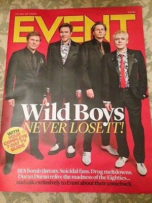 (UK) EVENT MAGAZINE JULY 2015 DURAN DURAN SIMON LE BON NICK RHODES JOHN TAYLOR