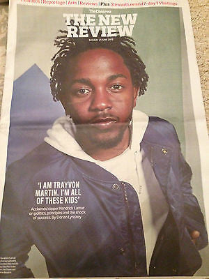 KENDRICK LAMAR PHOTO COVER INTERVIEW OBSERVER NEW REVIEW JUNE 2015 - LA ROUX
