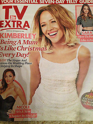 TV EXTRA MAGAZINE NOV 2015 KIMBERLEY WALSH GIRLS ALOUD PHOTO COVER BEN HAENOW