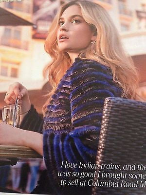Downton Abbey LILY JAMES Photo Interview ULTRATRAVEL Magazine SPRING 2016 NEW