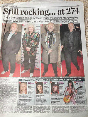Noddy Holder Slade Jimmy Page Photo News article 2015