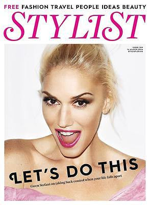 (UK) STYLIST MAGAZINE GWEN STEFANI PHOTO COVER INTERVIEW MARCH 2016 NEW