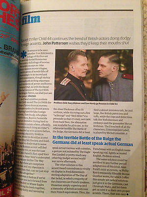 GUIDE MAGAZINE APRIL 2015 TOM HARDY GARY OLDMAN STEALING SHEEP GEORGE MACKAY