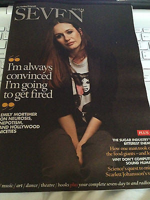 EMILY MORTIMER interview MICHAEL PRAED UK 1 DAY ISSUE 2014 NEW JARED LETO