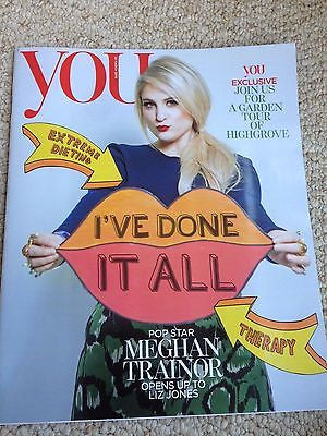 MEGHAN TRAINOR PHOTO INTERVIEW YOU MAGAZINE MARCH 2015 MARIO TESTINO MALE MODELS