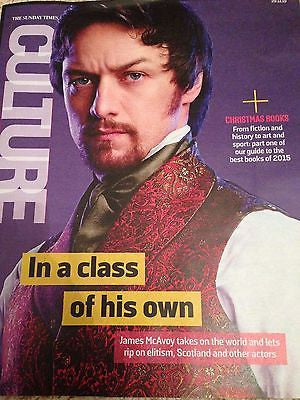 (UK) CULTURE MAGAZINE NOV 2015  JAMES MCAVOY AGYNESS DEYN ANNA MAXWELL MARTIN