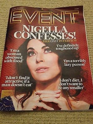 NIGELLA LAWSON interview JEREMY RENNER UK 1 DAY ISSUE NEW BENEDICT CUMBERBATCH