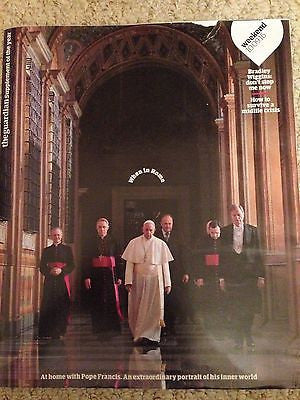 POPE FRANCIS AT HOME - AN EXTRAORDINARY PORTRAIT UK Guardian Magazine Sept 2016