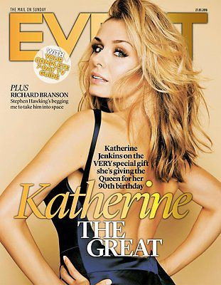 (UK) EVENT MAGAZINE MARCH 2016 KATHERINE JENKINS TOM HIDDLESTON KENNETH BRANAGH