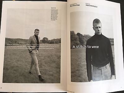 War & Peace JACK LOWDEN Photo interview UK Esquire Magazine July 2017