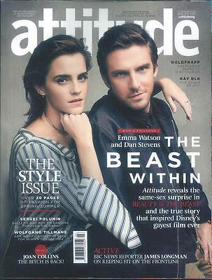 UK Attitude Magazine April 2017 Emma Watson Dan Stevens Beauty and the Beast