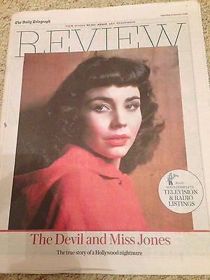 JENNIFER JONES UK Photo Cover JANUARY 2016 NEW - MICHAEL B JORDAN DAVID TENNANT