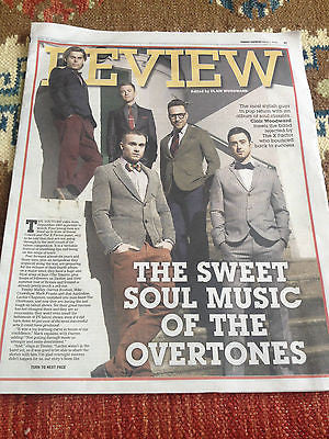 THE OVERTONES PHOTO COVER INTERVIEW EXPRESS REVIEW MARCH 2015