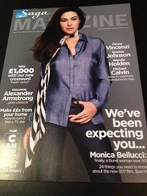 MONICA BELLUCCI James Bond PHOTO COVER INTERVIEW SAGA MAGAZINE OCTOBER 2015