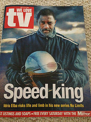 UK WE LOVE TV MAGAZINE - IDRIS ELBA EMILY WATSON ERIC DANE DYLAN WALSH JULY 2015