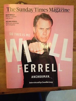 ANCHORMAN 2 uk mag 2013 WILL FERRELL RON BURGUNDY interview TIMES Exclusive