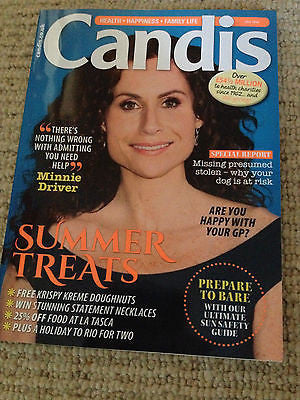 MINNIE DRIVER photo cover interview JULY 2014 Candis Magazine